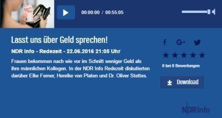22. Juni 2016 – NDR Info Redezeit